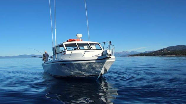 Private fishing charter from zephyr cove resort tahoe for Lake tahoe fishing charters