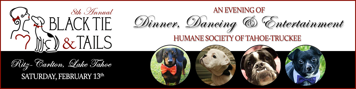 Truckee Humane Society Ties & Tails Gala Banner