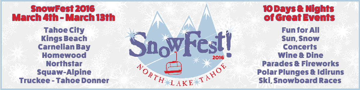 2016 North Lake Tahoe Snowfest Banner