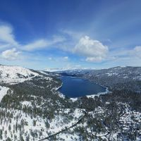Mountain view of Donner Lake