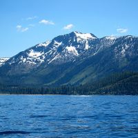 View of Mt. Tallac across the water of Lake Tahoe