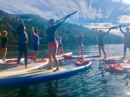 Truckee Events, SUP Yoga at Donner Lake