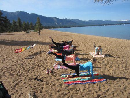 Lake Tahoe Yoga, Beach Vinyasa