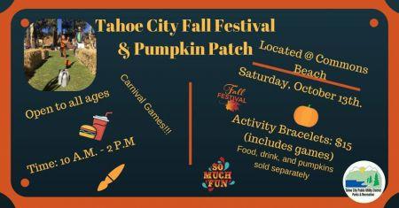 Tahoe City Public Utility District, Tahoe City Fall Festival & Pumpkin Patch