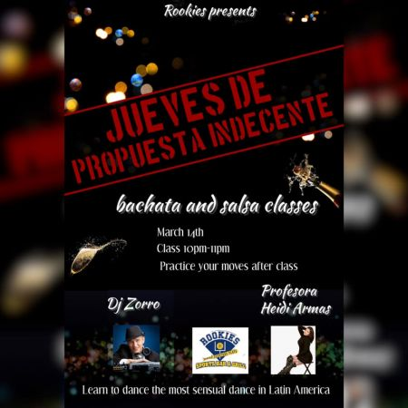 Rookie's Sports Bar & Grill, Bachata class with Heidi Armas
