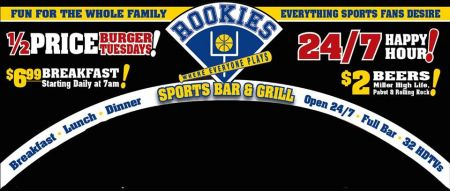 Rookie's Sports Bar & Grill, Burger Tuesdays