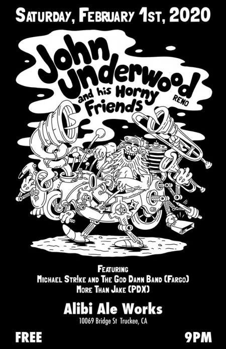 Alibi Ale Works, John Underwood and His Horny Friends live at Alibi in Truckee