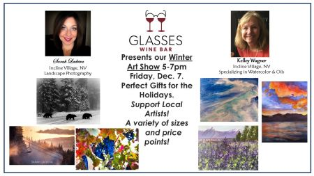 Glasses Wine Bar, Winter Art Show!