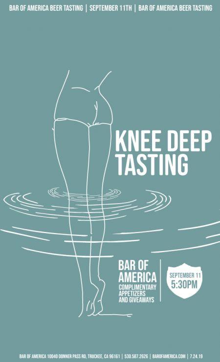 Bar of America, Knee Deep Beer Tasting at Bar of America