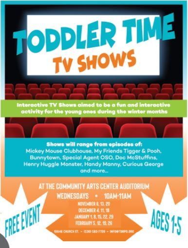 Truckee Donner Recreation & Park District, Toddler Time TV Shows