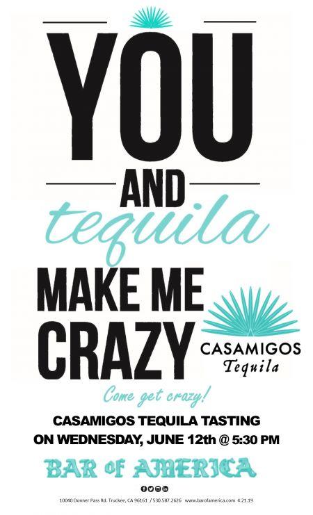 Bar of America, Casamigos Tequila Tasting