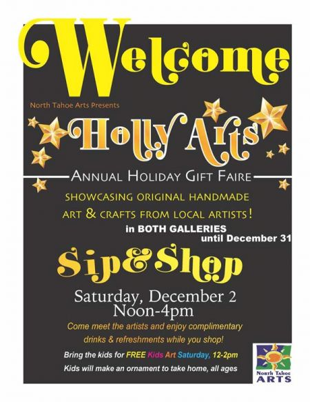 North Tahoe Arts, Holly Arts - Holiday Gift Faire