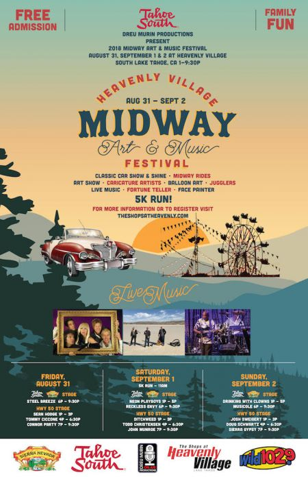 Heavenly Village Midway Art Music Festival Shops At Heavenly - South lake tahoe classic car show