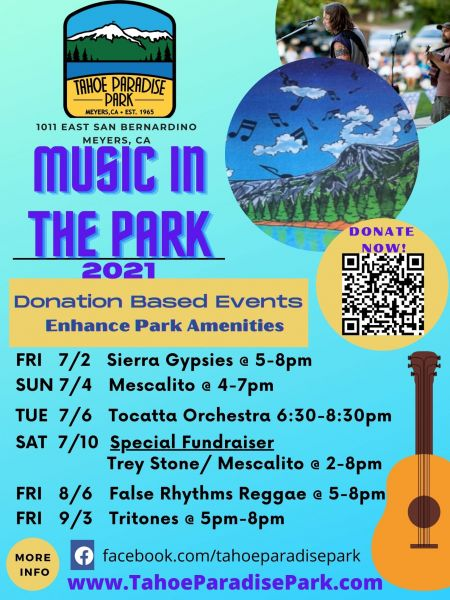 Lake Tahoe Events, Tahoe Paradise Park: Music In The Park
