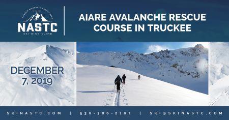 North American Ski Training Center, AIARE Avalanche Rescue Course in Truckee