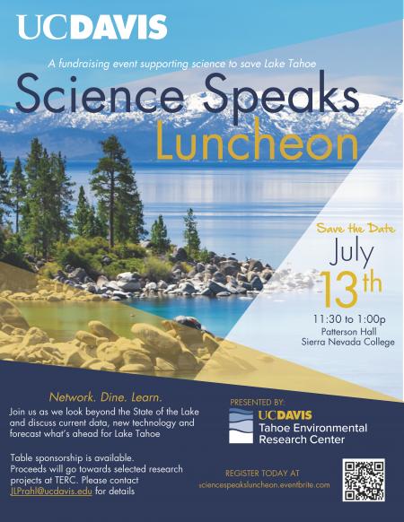 UC Davis Tahoe Science Center, Science Speaks Luncheon