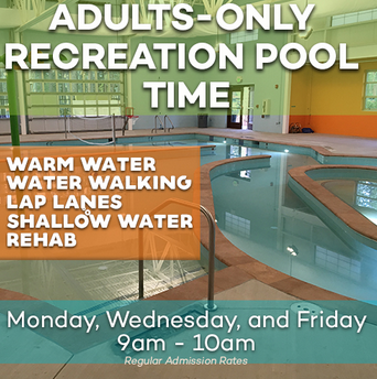 Truckee Donner Recreation & Park District, Adult Only Recreation Pool & Swim Time