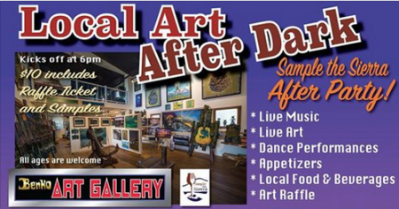 Benko Art Gallery, Local Art After Dark, after Sample the Sierra