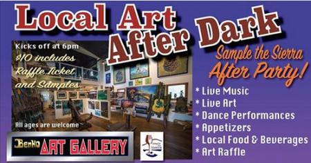 Benko Art Gallery, Local Art After Dark, after Sample the Sierra
