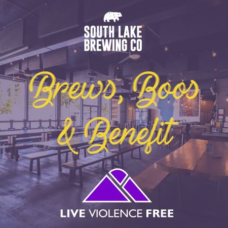 South Lake Brewing Company, Brews, Boos, and Benefit for Domestic Violence Awareness Month