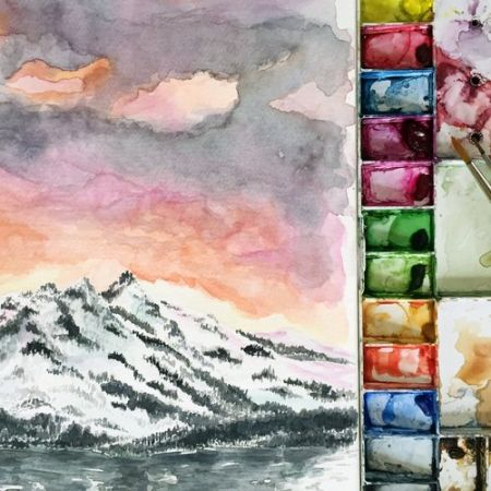 Atelier, Mountains in Watercolor