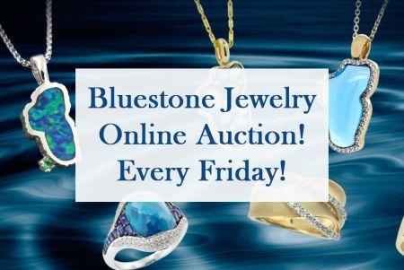 Bluestone Jewelry, Bluestone Jewelry Online Auction via FaceBook every Friday!