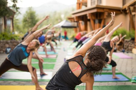 The Village at Palisades Tahoe, First Street Yoga Series