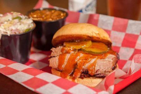 Moe's Original Bar B Que, Texas Brisket Saturday Special