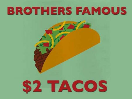 Emerald Bay Bar & Grill, Monday & Saturday: Brothers Famous $2 Tacos