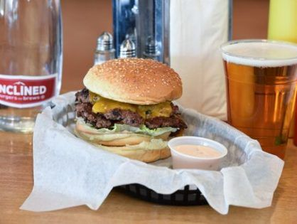 Inclined Burgers & Brews, 1/2 lb Double Inclined Burger