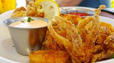 Artemis Lakefront Cafe, Free Calamari with Entree