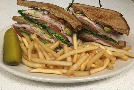 Heaven's Little Café South Lake Tahoe, Turkey Club Sandwich