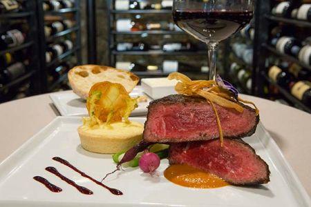 Edgewood Restaurant, Coffee Crusted Prime New York Steak