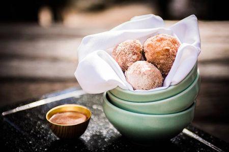 Jack Rabbit Moon, Cinnamon Sugar Dusted Old-Fashioned Doughnut Holes
