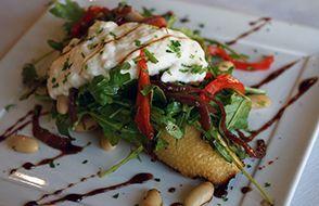 The Lodge Restaurant & Pub, Burrata Bruschetta