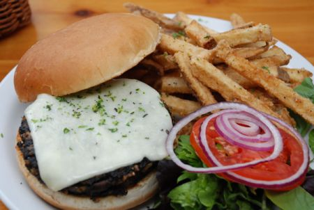 Austin's Restaurant, House Made Veggie Burger