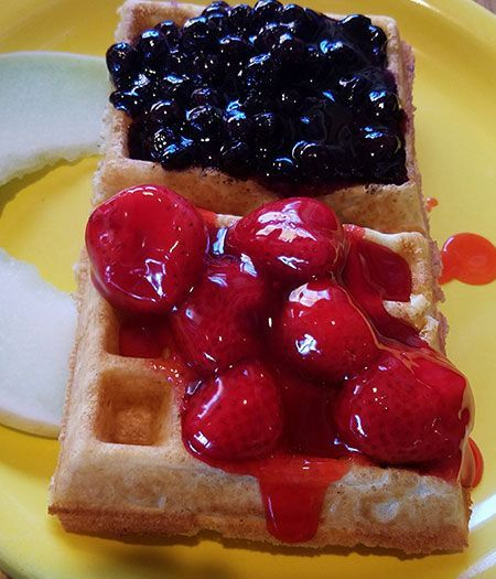 Welcome to Bear Beach Cafe, South Lake Tahoe, Beary Berry Waffle