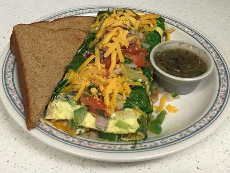 Heaven's Little Café South Lake Tahoe, Veggie Omelette