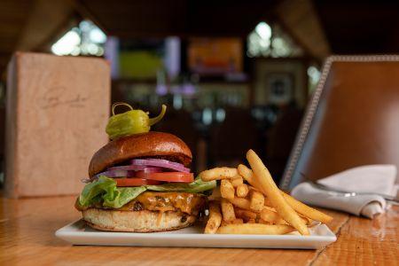 Brook's Bar & Deck, Half Pound Special Blended Burger DF