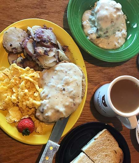 Welcome to Bear Beach Cafe, South Lake Tahoe, Hungry Man Chicken Fried Steak Special