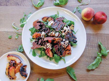 Copper Lane Cafe & Provisions, Peach Buratta Salad