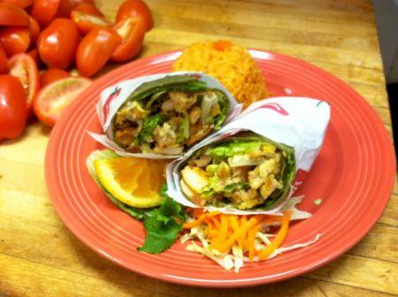 The Blue Agave, Chicken Burrito