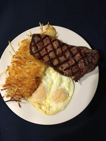 Rosie's Cafe, New York Steak and Eggs