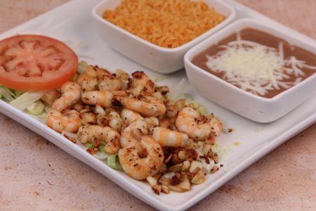 La Mexicana Meat Market & Taqueria, Camarones Al Mojo de Ajo