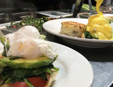 Marty's Cafe, Daily Special Eggs Benedict