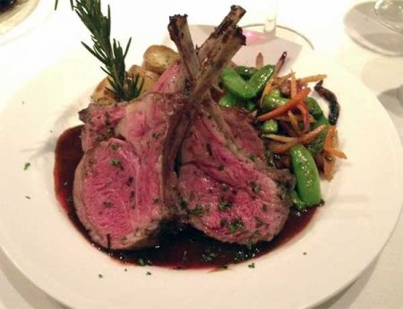 Nepheles Creative California Cuisine, New Zealand Rack of Lamb