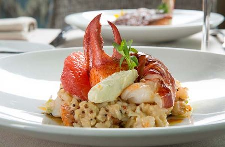 Lobster Risotto Gf Edgewood Restaurant Lake Tahoe