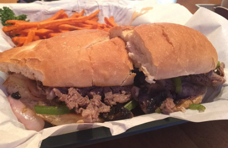 Mott Canyon Tavern & Grill, Philly Steak Sandwich