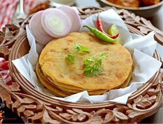 Clay Oven Restaurant, Whole Wheat Laccha Parantha