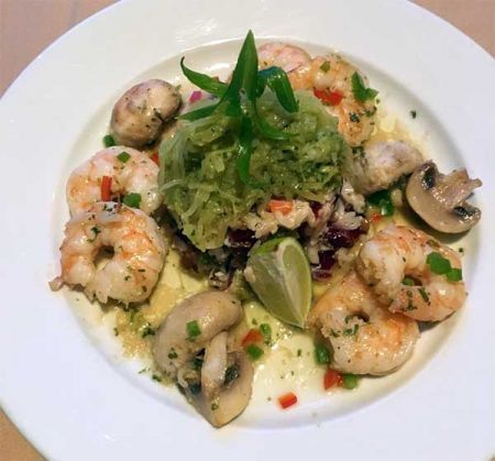 Nepheles Creative California Cuisine, Skillet Roasted Shrimp